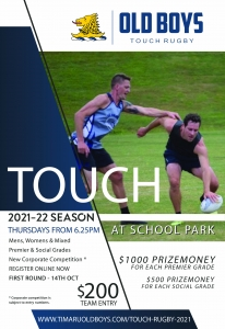 Old Boys Touch Rugby Competition 2021
